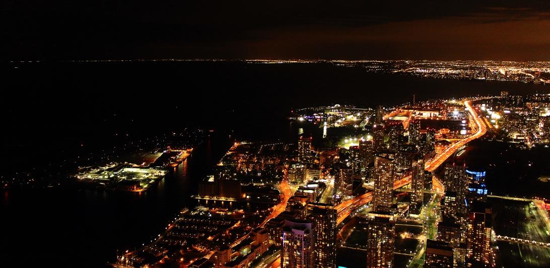 Toronto at Night. Toronto, Ontario, Canada